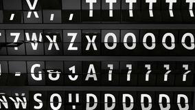 Сетноая-аналогов доска информационного дисплея полета с городом прибытия Торонто, Канады сток-видео
