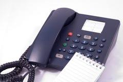 сетноая-аналогов кнопка телефона тетради Стоковая Фотография