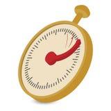 Сетноая-аналогов иллюстрация шаржа секундомера Стоковое Фото
