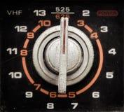 Сетноая-аналогов кнопка телевидения стоковые фото