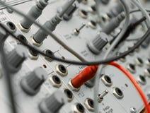 сетноое-аналогов модульное synth Стоковая Фотография