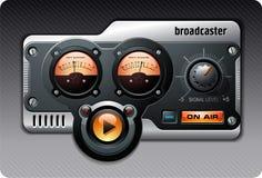 сетноое-аналогов померанцовое радио Стоковое Изображение RF