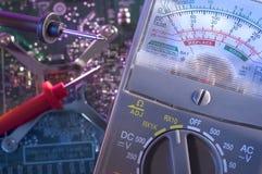 сетноой-аналогов вольтамперомметр Стоковое фото RF