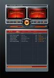 Сетноой-аналогов вектор медиа-проигрывателя музыки MP3 стерео Стоковая Фотография