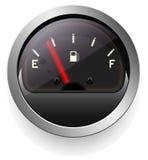 Сетноой-аналогов индикатор с стрелкой Прибор дисплей уровня или давления Темный дизайн Стоковые Изображения