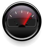 Сетноой-аналогов индикатор с стрелкой Прибор дисплей уровня или давления Темный дизайн Стоковое Фото