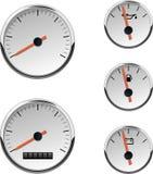 сетноые-аналогов автомобильные датчики шлюпки Стоковая Фотография