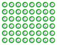 сетноые-аналогов часы показывая время Стоковые Фото