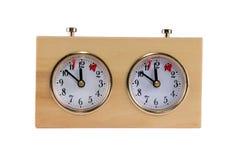 сетноые-аналогов часы шахмат Стоковое Изображение RF