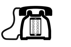 Сетноые-аналогов и цифровые телефоны Стоковая Фотография