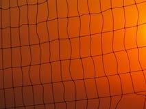 сетчатый волейбол захода солнца неба Стоковое Фото
