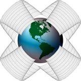 сеть америки Стоковые Фотографии RF
