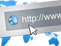 сеть браузера Стоковое фото RF