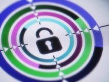сеть вектора замка иконы установленная Стоковая Фотография RF
