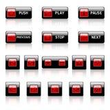 сеть вектора кнопок Стоковые Изображения