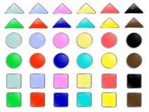 сеть вектора кнопок Стоковая Фотография