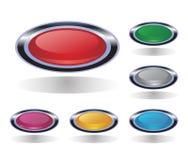сеть вектора конструкции кнопок Стоковая Фотография RF
