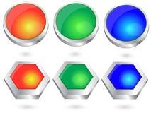 сеть вектора металла кнопок Бесплатная Иллюстрация