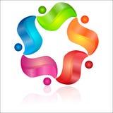 сеть вектора логоса глобуса Стоковое Изображение