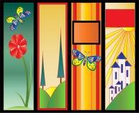 сеть вертикали colourfull знамен Иллюстрация штока