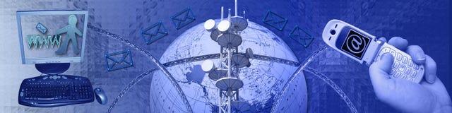 сеть взаимодействия Стоковая Фотография RF