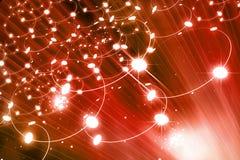 сеть виртуального пространства 3d цифровая представляет Стоковое Фото