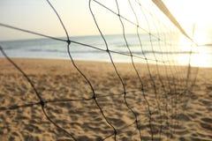 Сеть волейбола пляжа Стоковые Изображения RF