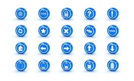 сеть голубых икон лоска конструкции глянцеватая Стоковое фото RF