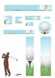 сеть гольфа принципиальной схемы знамен Бесплатная Иллюстрация