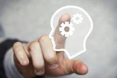 Сеть головы инженерства знака кнопки дела Стоковые Изображения RF