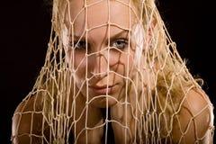 сеть девушки Стоковое Фото