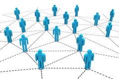 Сеть дела человеческая социальная Стоковое Фото