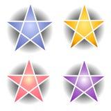 сеть звезды pentagram икон Стоковые Фотографии RF