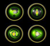 сеть зеленой иконы установленная Стоковое фото RF