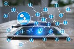 Сеть значка людей SMM средства маркетинга социальные стоковое изображение