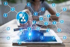 Сеть значка людей SMM средства маркетинга социальные стоковые фото
