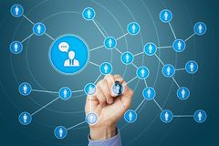 Сеть значка людей SMM средства маркетинга социальные стоковое изображение rf