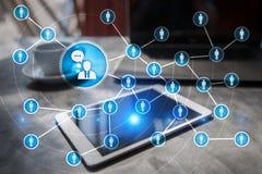 Сеть значка людей SMM средства маркетинга социальные стоковая фотография
