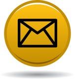 Сеть значка почты контакта застегивает золотой бесплатная иллюстрация