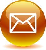 Сеть значка почты контакта застегивает золото иллюстрация вектора
