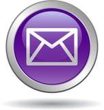 Сеть значка почты контакта застегивает фиолет бесплатная иллюстрация
