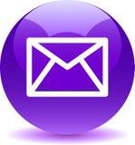 Сеть значка почты контакта застегивает фиолет иллюстрация штока
