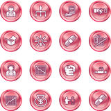 сеть иконы дела установленная Стоковое Изображение
