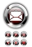 сеть иконы кнопки установленная Стоковое фото RF
