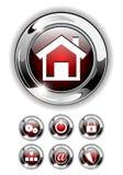 сеть иконы кнопки установленная Стоковая Фотография RF