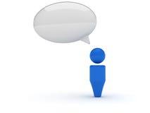 сеть иконы контакта 3d Стоковая Фотография