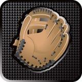 сеть иконы перчатки бейсбола иллюстрация вектора