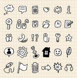 сеть иконы руки притяжки Стоковое Изображение