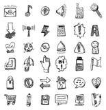 сеть иконы руки притяжки Стоковое фото RF