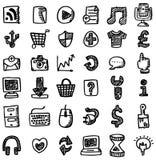 сеть иконы руки притяжки Стоковые Фотографии RF